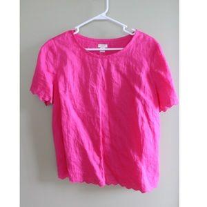 JCrew Women's t-shirt blouse, open back